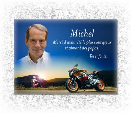 inscription sur plaque fun raire haut de gamme avec photo de moto. Black Bedroom Furniture Sets. Home Design Ideas