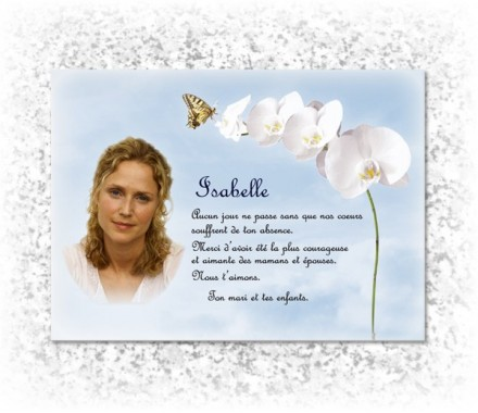 plaque funeraire Papillon