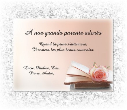 message pour plaque fun raire sur le th me fleur rose. Black Bedroom Furniture Sets. Home Design Ideas